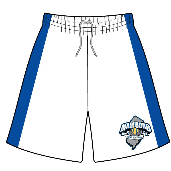MARLBORO SOFTBALL SHORTS WHITE