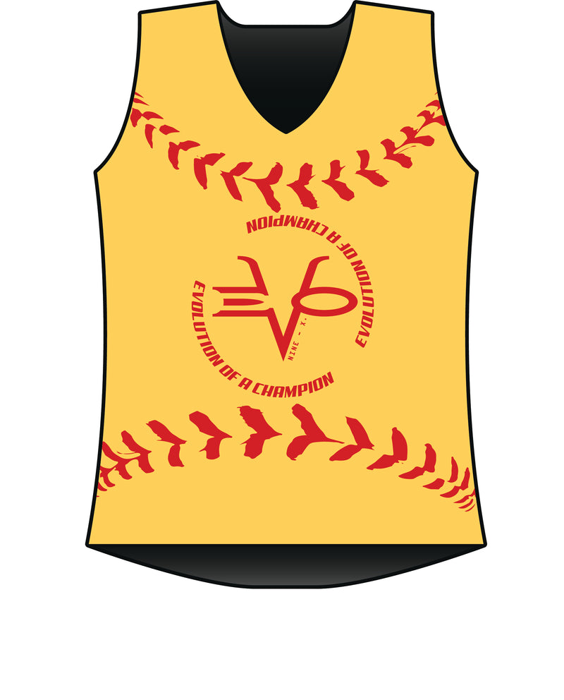 WOMENS EVO SOFTBALL RACERBACK