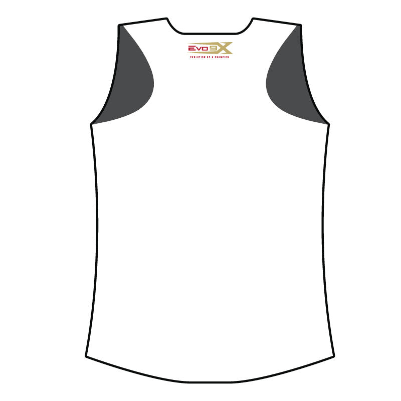 EAST PEORIA EXPRESS WOMENS RACERBACK SHIRT WHT