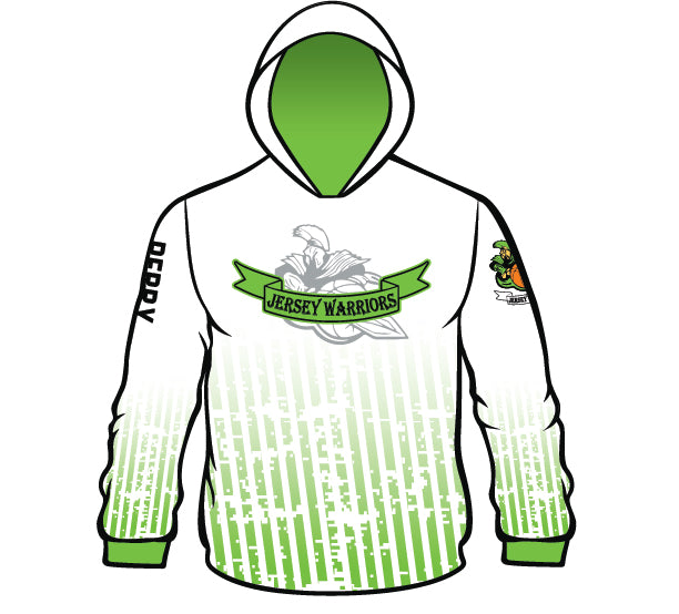 JERSEY WARRIORS SUBLIMATED HOODIE WHT