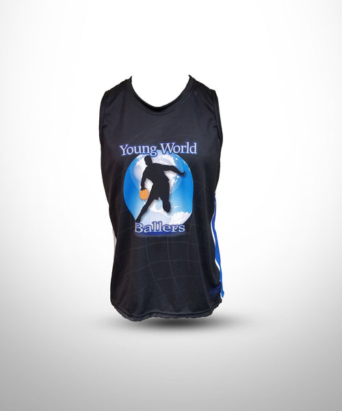 Full dye Sublimated Sleeveless Muscle Tee    YWB-Black