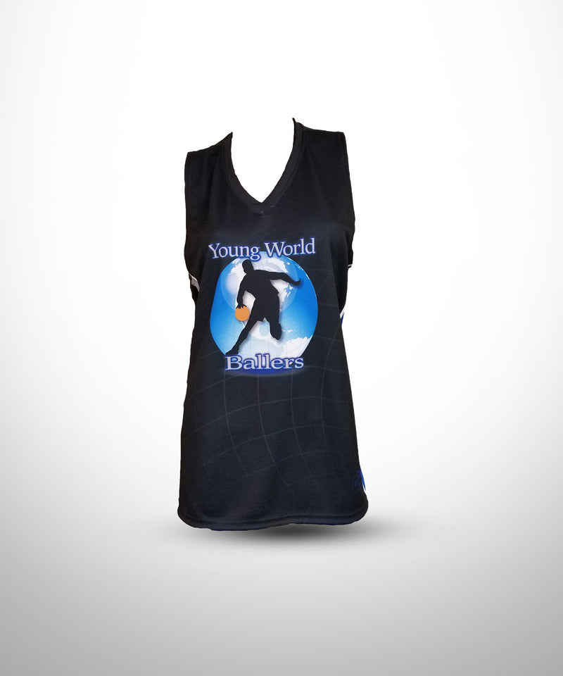 Full Dye Sublimated Racerback Tank Top BLK YW BALLERS