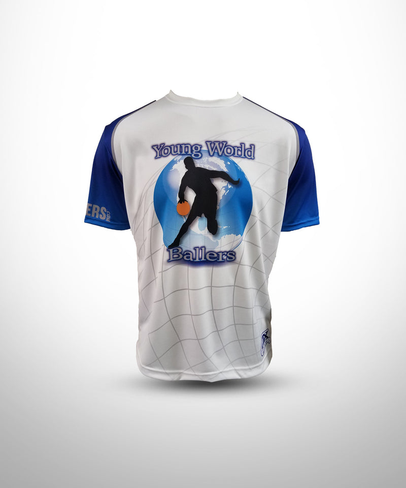 Full Dye Sublimated Short Sleeve Jersey WHT YW BALLERS