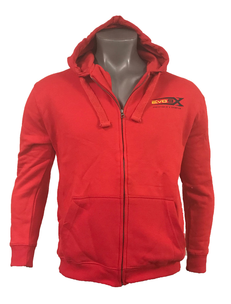 YOUTH EVO LOGO RED ZIP UP HOODIE CLEARANCE