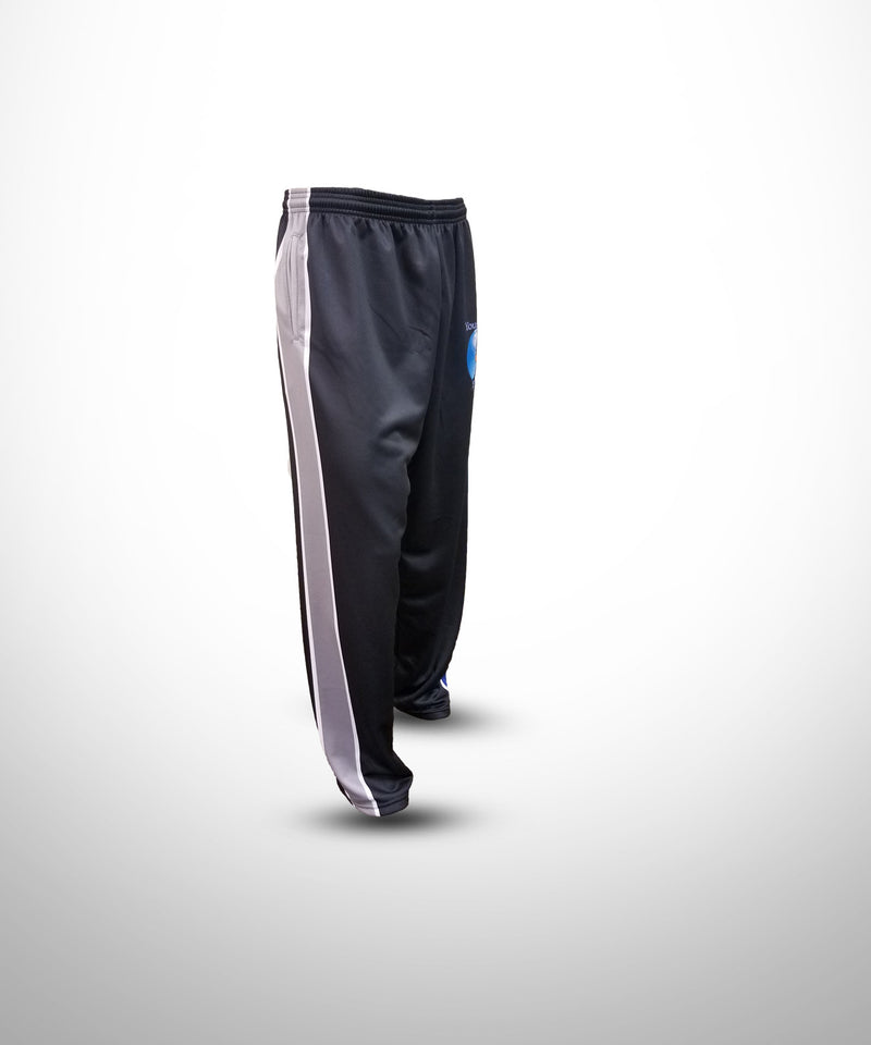 Full Dye Sublimated Sweat Pants Baseball BLK YW BALLERS