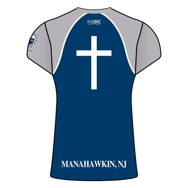 ST. MARY ACADEMY WOMENS CAP SLEEVE SHIRT (NAVY)