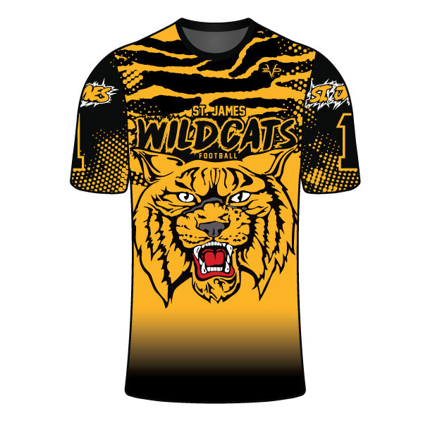 ST JAMES WILDCATS COMPRESSION SHIRT