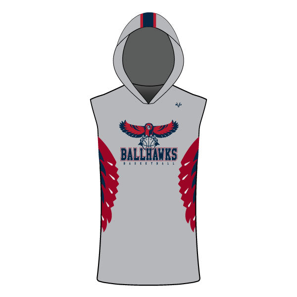 Evo9x DAVINCI BASKETBALL Full Sublimated Sleeveless Compression Hoodie
