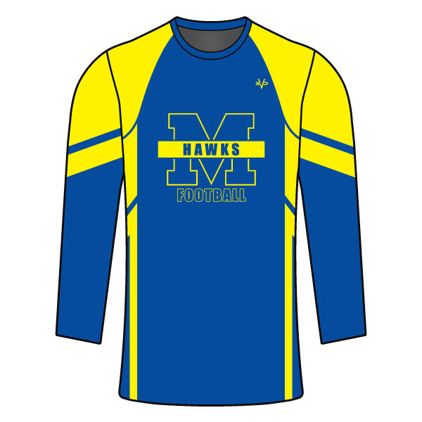 MANCHESTER HAWKS LONG SLEEVE COMPRESSION SHIRT
