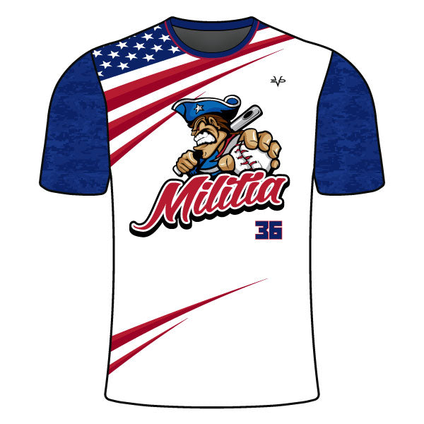 MILITIA BASEBALL CREW NECK SHIRT