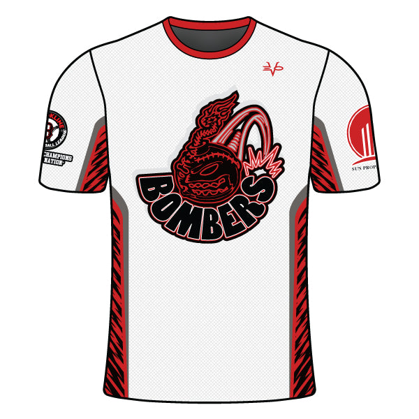 Evo9x BOMBERS Full Dye Sublimated Crew Neck Fastpitch Shirt