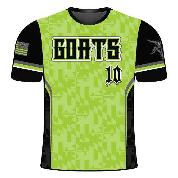 Copy of GOATS Full Dye Sublimated Crew Neck Shirt Lime