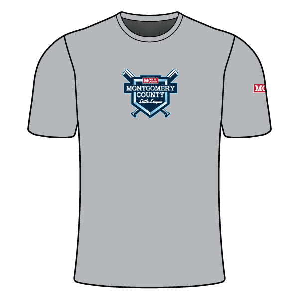 Evo9x MONTGOMERY LITTLE LEAGUE Full Dye Sublimated Crew Neck Shirt Grey