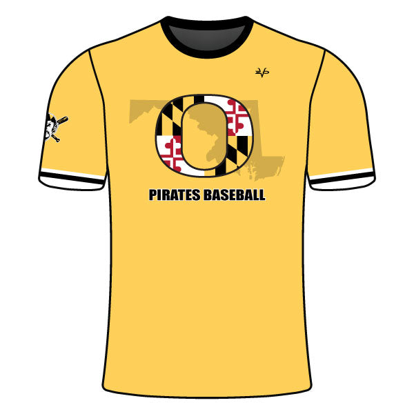 OLNEY PIRATES BASEBALL CREW NECK SHIRT (MARYLAND - ATHLETIC GOLD)