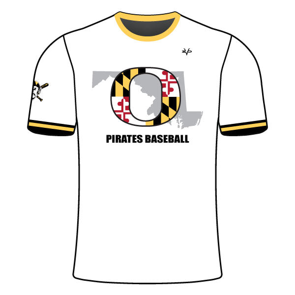 OLNEY PIRATES BASEBALL CREW NECK SHIRT (MARYLAND - WHITE)