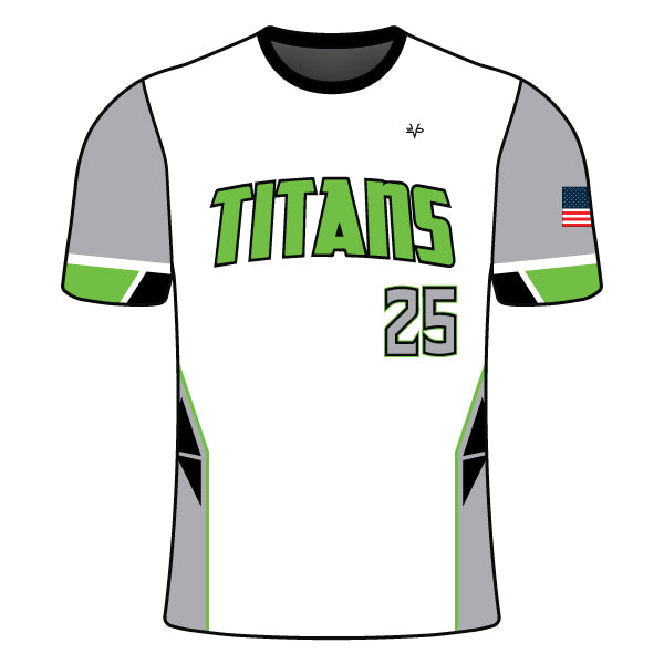 Evo9x TITANS Full Dye Sublimated Crew Neck Shirt White
