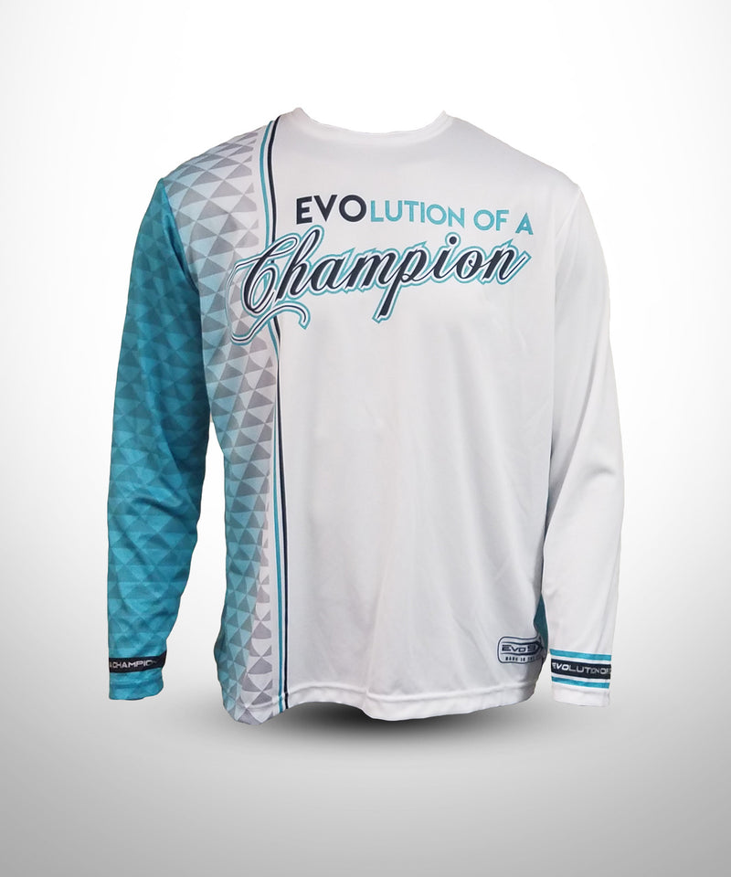 Full dye sublimated Long sleeve jersey - Evolution Of a Champion
