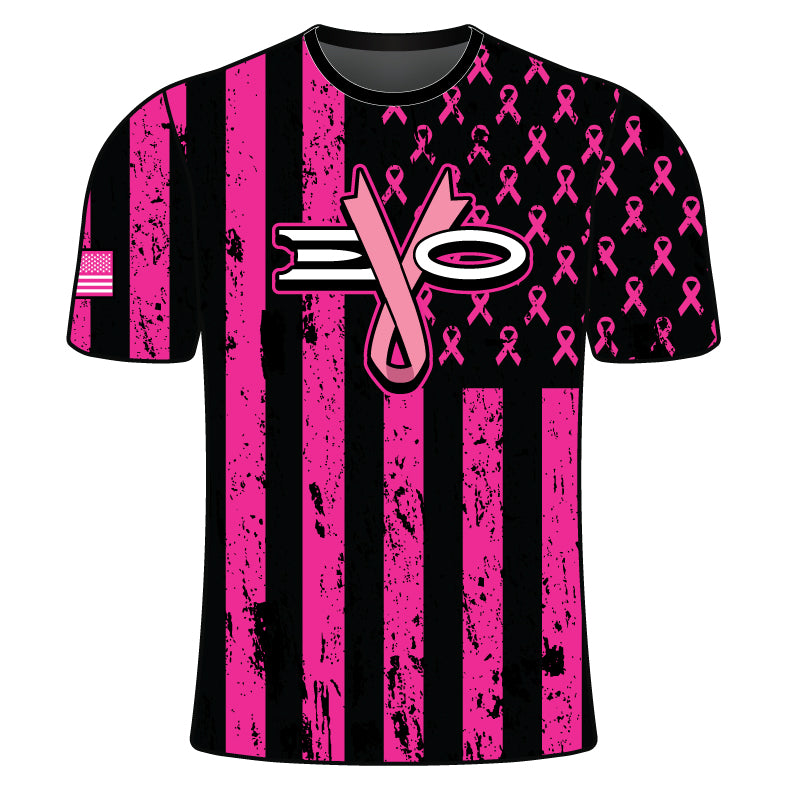 EVO BREAST CANCER FLAG SHIRT