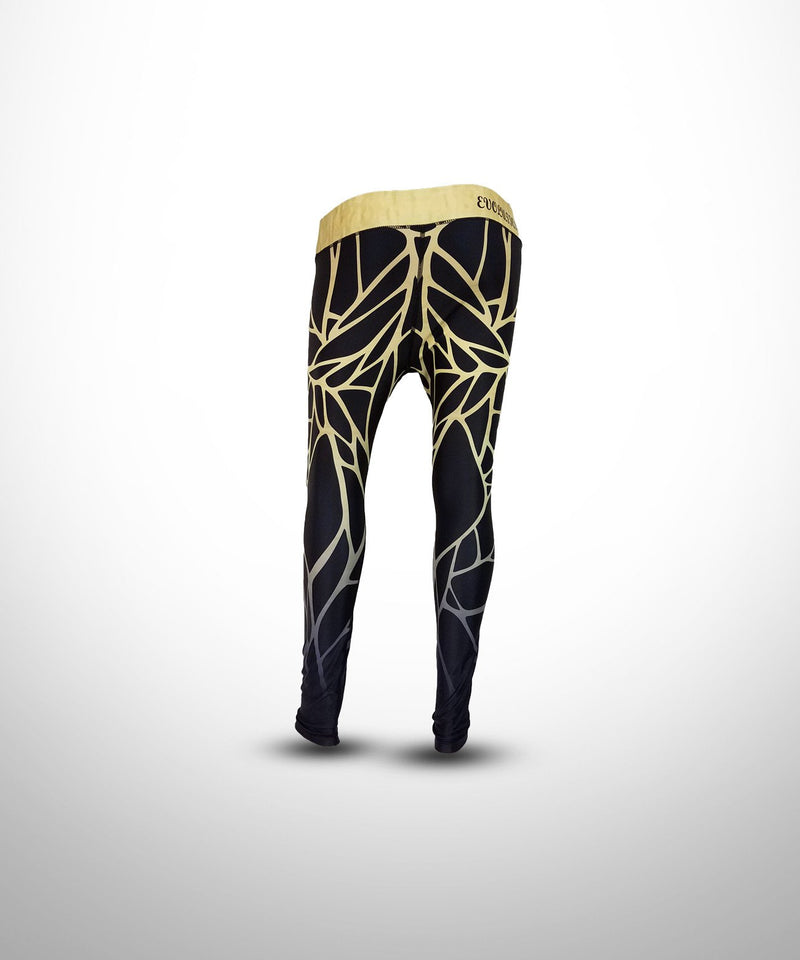 WOMENS FULL DYE SUBLIMATED SCALES COMPRESSION LEGGINGS