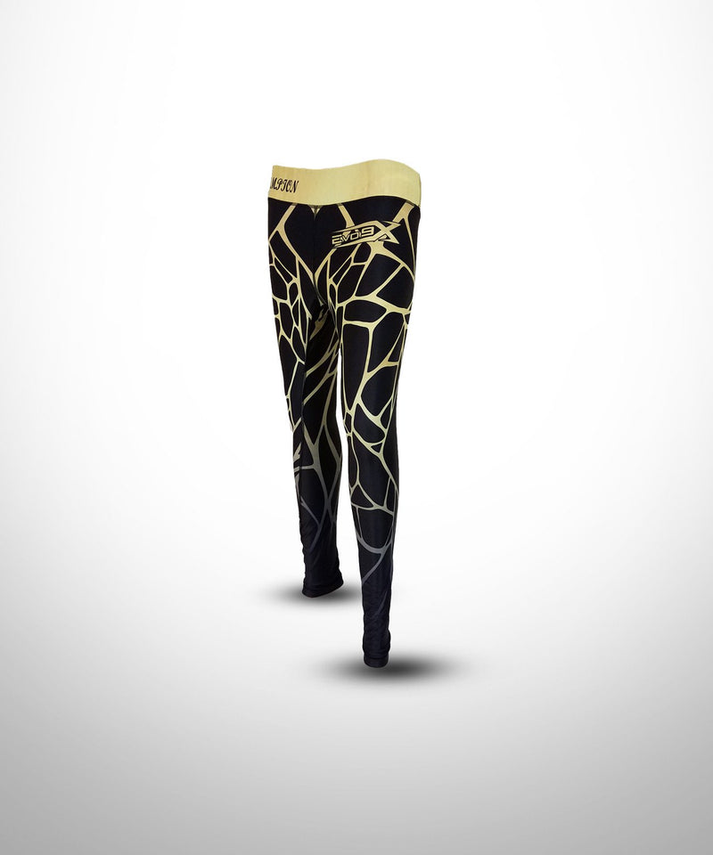 Evo9x SCALES Full Dye Sublimated Compression Leggings Black/Yellow