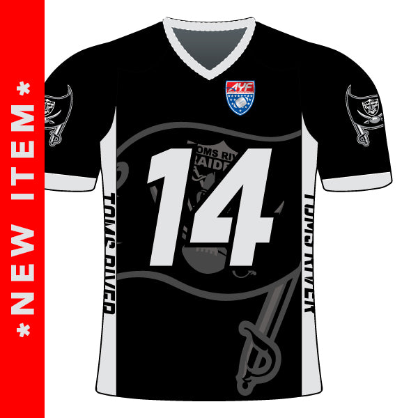 TOMS RIVER RAIDERS FAN JERSEY (BLACK)