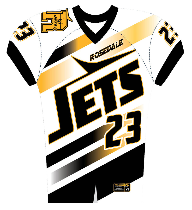 ROSEDALE JETS SUBLIMATED FAN JERSEY WHT