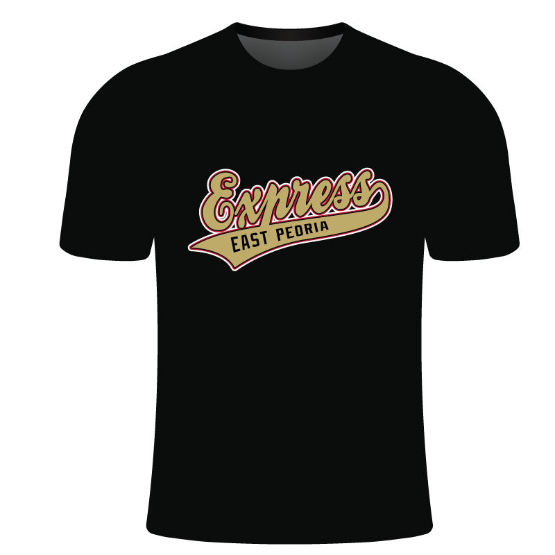 EAST PEORIA EXPRESS SUBLIMATED SHORT SLEEVE SHIRT BLK