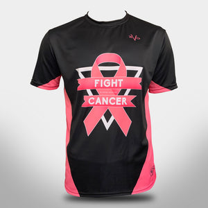 "EVO ""FIGHT CANCER"" BREAST CANCER CREW NECK JERSEY - BLACK"