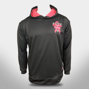 "EVO ""PINK TOUGH"" BREAST CANCER HOODIE - BLACK"
