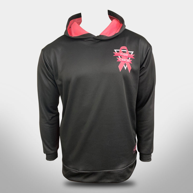 "EVO ""FIGHT CANCER"" BREAST CANCER HOODIE - BLACK"