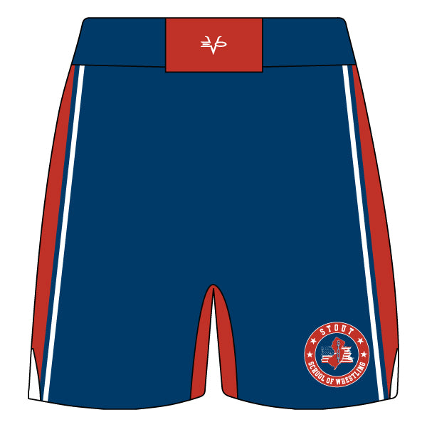 STOUT WRESTLING FIGHT SHORTS (NAVY)