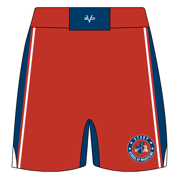 STOUT WRESTLING FIGHT SHORTS (RED)