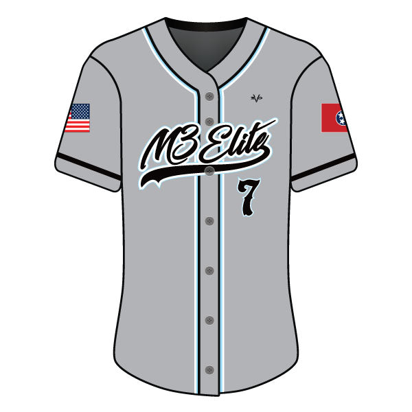 Evo9x M3 ELITE Full Dye Sublimated Full Button Jersey Grey