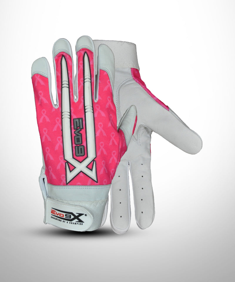 Pink Baseball Batting Gloves