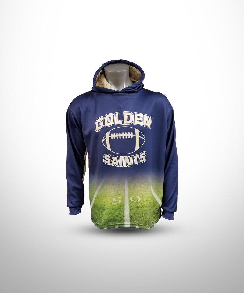 Full Dye Sublimated Hoodie NV FLD GOLDEN SAINTS