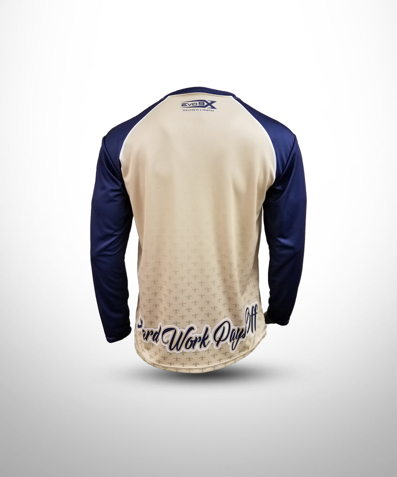 Full Dye Sublimated Long Sleeve Jersey VG NV GOLDEN SAINTS