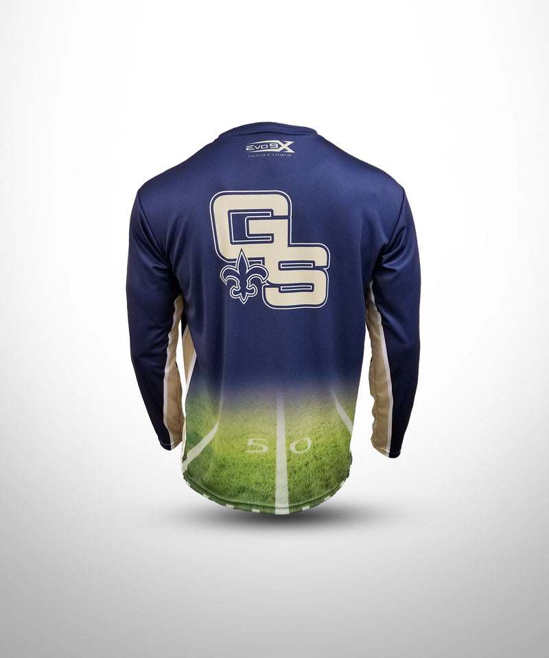 Full Dye Sublimated Long Sleeve Jersey NV FLD GOLDEN SAINTS