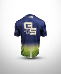 Full dye sublimated Short Sleeves Jersey GS-Navy-Field
