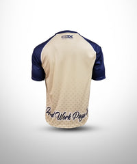 Full dye sublimated Short Sleeves Jersey GS-Vegasgold-Navy