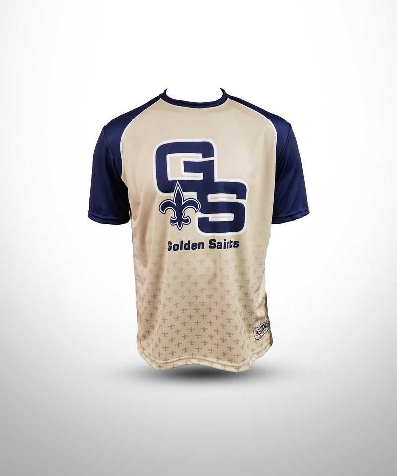 Full Dye Sublimated Short Sleeve Jersey VG NV GOLDEN SAINTS