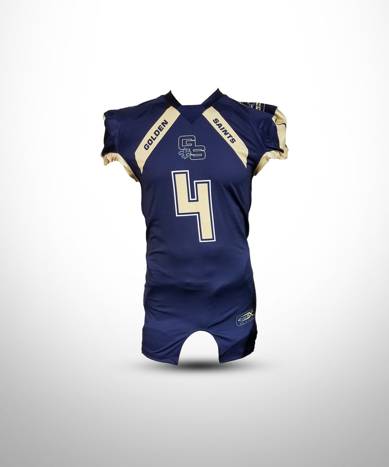 Full Dye Sublimated Game Jersey NVY GOLDEN SAINTS
