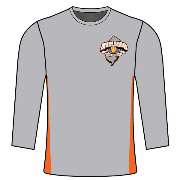 MARLBORO SOFTBALL LONG SLEEVE SHIRT GREY