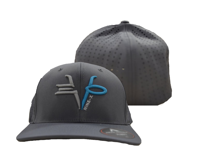 Evo9x EVO Mid-Profile Breathable Hat Grey Blue