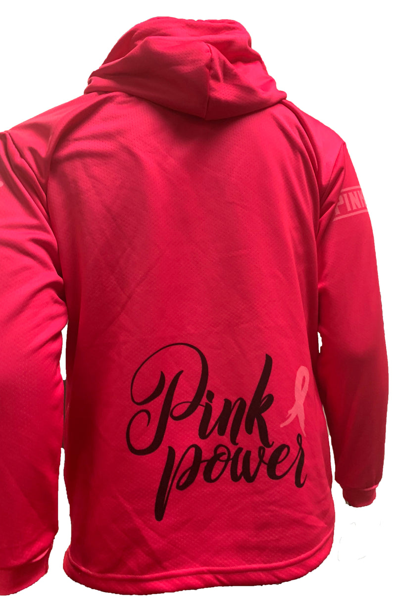 Evo9x PINK WARRIOR Full Dye Sublimated Hoodie Hot Pink