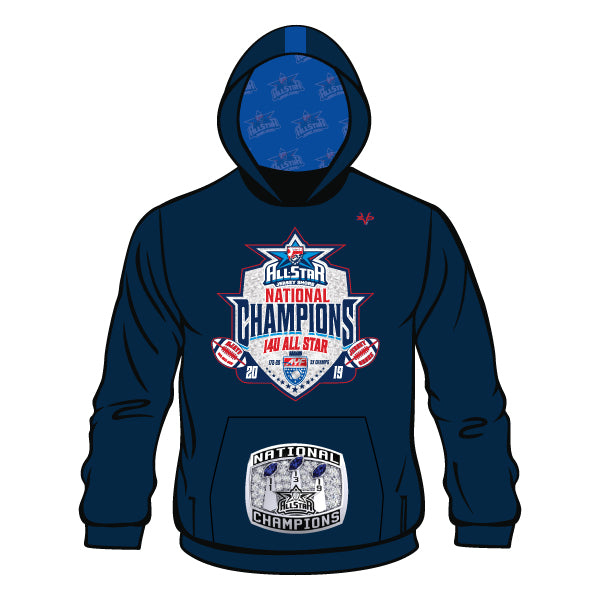 NATIONAL CHAMPION LOGO HOODIE