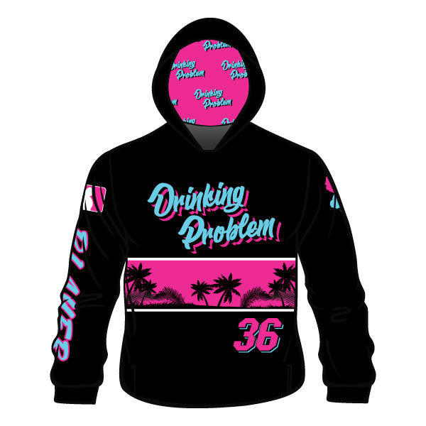Evo9x DRINKING PROBLEM Full Dye Sublimated Hoodie Black