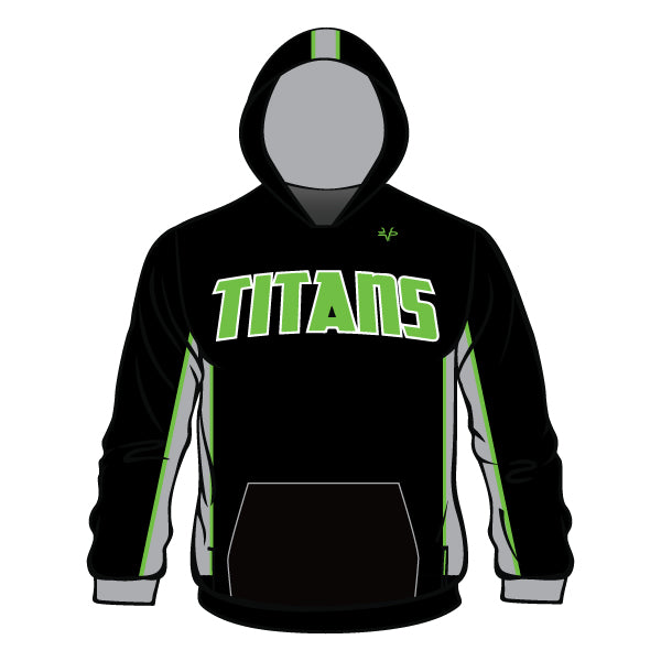 Evo9x TITANS Full Dye Sublimated Hoodie Black