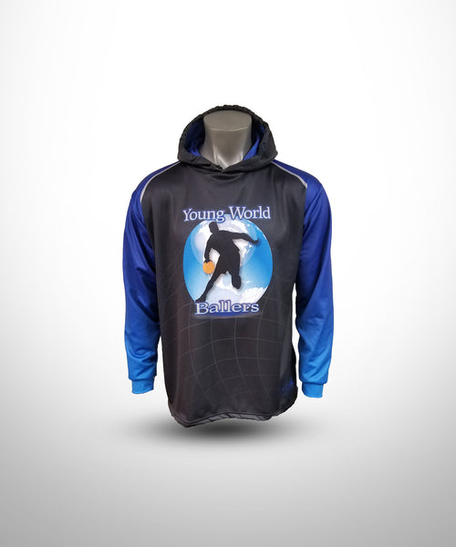 Full dye Sublimated hoodies Black-Blue YWTOS