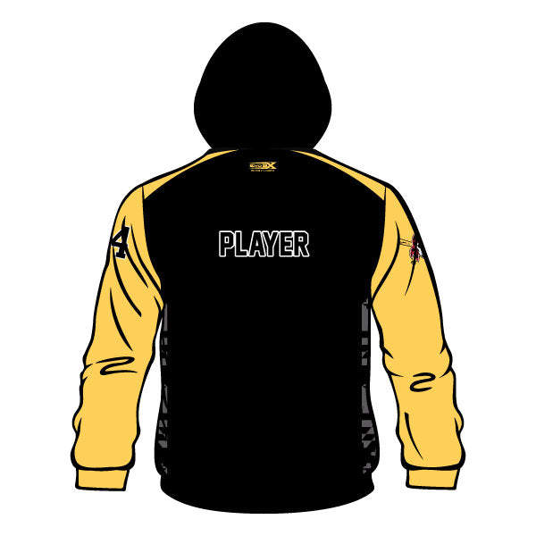 OLNEY PIRATES BASEBALL HOODIE (BLACK W/ ATHLETIC GOLD SLEEVES)