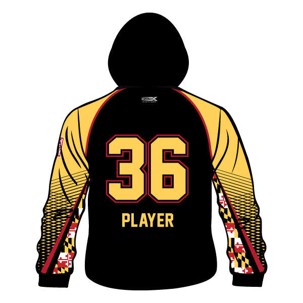 Evo9x MONTGOMERY LITTLE LEAGUE Full Dye Sublimated Hoodie Maryland Pattern